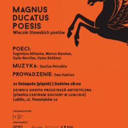 Magnus Ducatus Poesis. Wieczór litewskich poetów