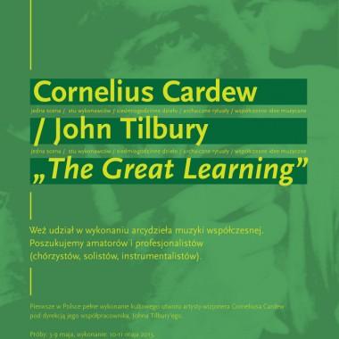 KODY 2013 – próby do THE GREAT LEARNING Corneliusa Cardew